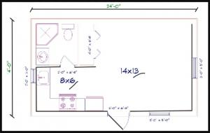 14x24 barndominium floor plans