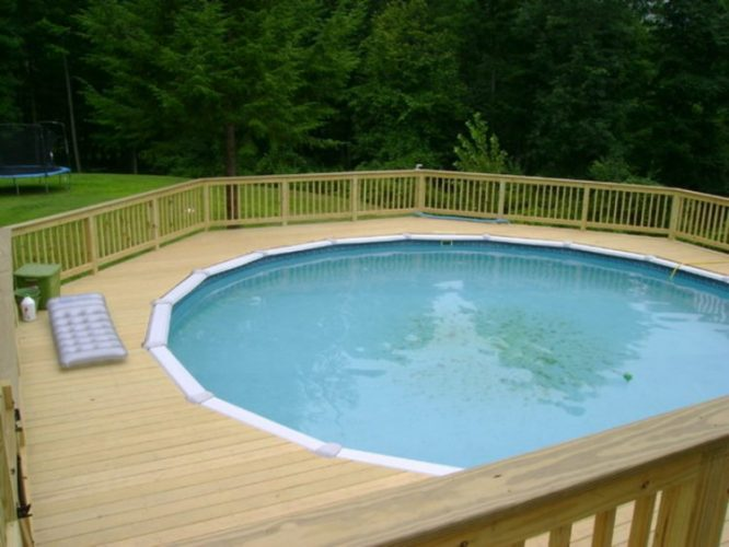 Above Ground Pool Ideas With Round Decks