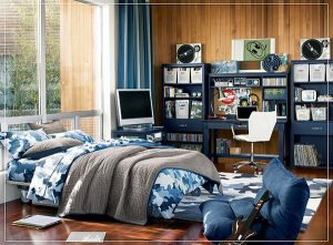 Blue shades video game room ideas