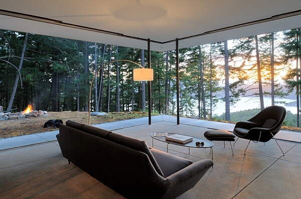 Breathtaking scenery outside living room