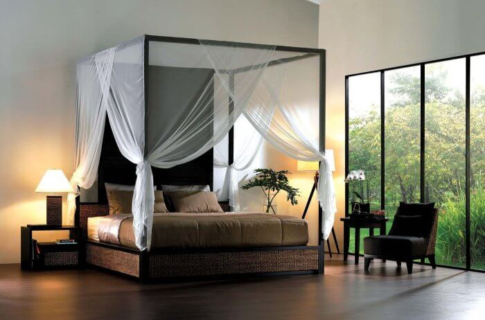 Types of beds: Modern canopy bed