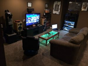 Dark color intelegently gaming room ideas
