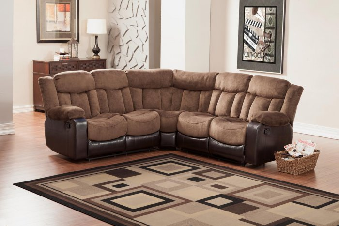 Homelegance 9605 vera reclining sectional sofa