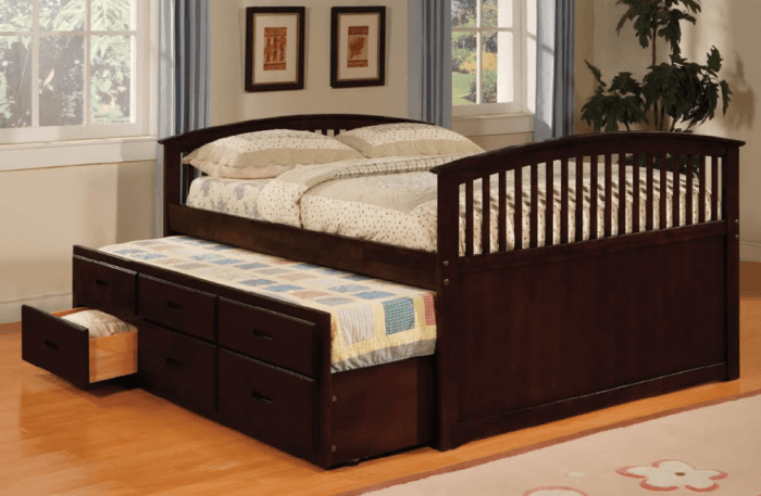 Types of beds: Kids trundle bed