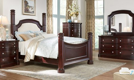 Types of beds: King low poster bed