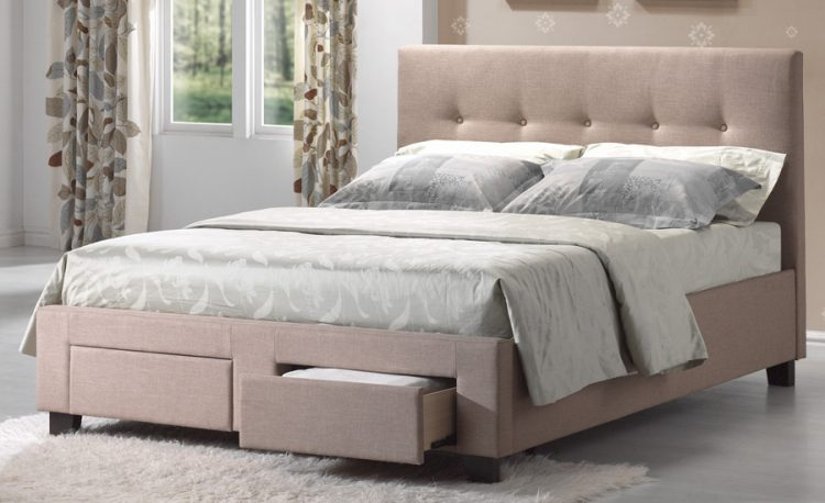 Types of bed frames; Upholstered