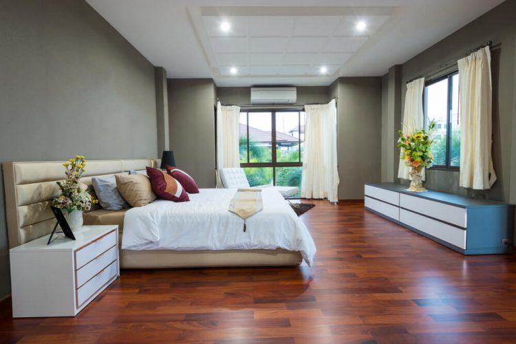 The two toned modernity wood flooring ideas