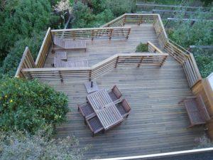 Multi level raised deck and overlook