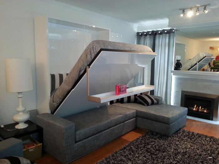 Types of beds: Murphy bed sofa combination