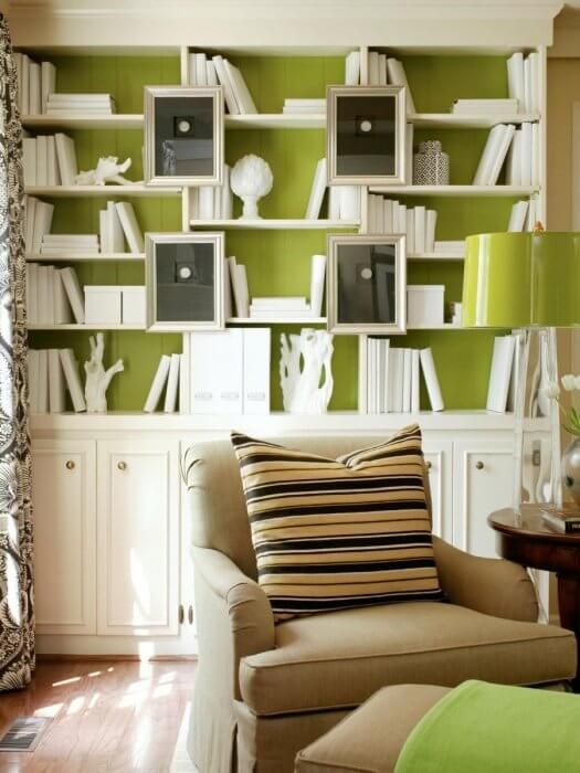 The magic of bookshelves for accent wall ideas