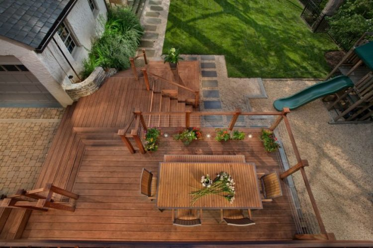 Three level decks and patio