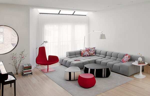 Tufted sofa combines comfort and style