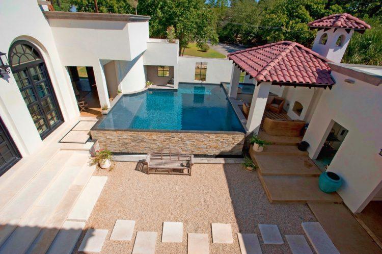 Unique above ground pool ideas for villa home