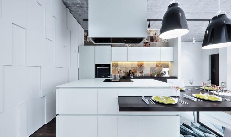 White cubed kitchen