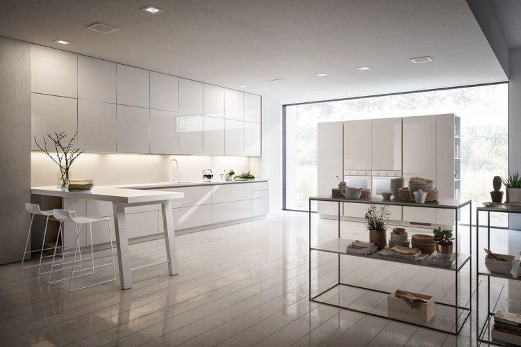 Modern white glossy kitchen