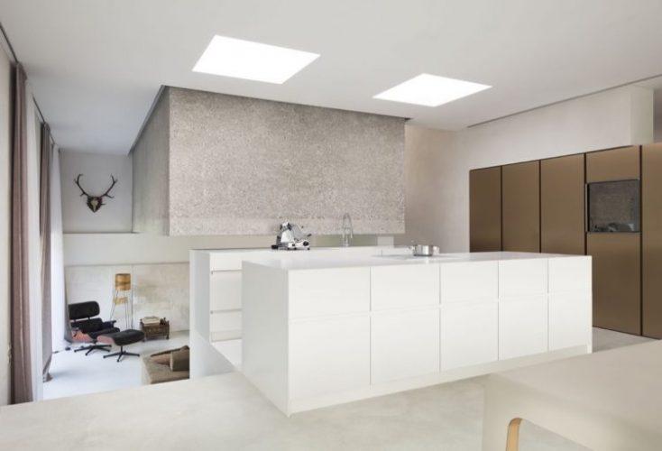 White industrial modern kitchen