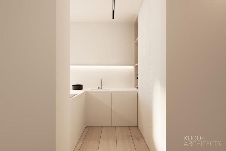 White unadorned kitchen