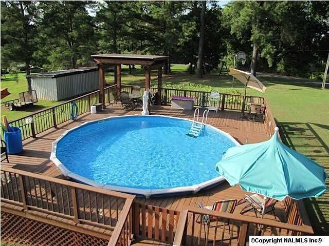 above ground pool ideas with amazing gathering spot - Above Ground Pool Deck Off House