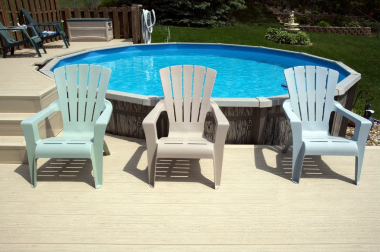 Above ground pool ideas with multi level decks