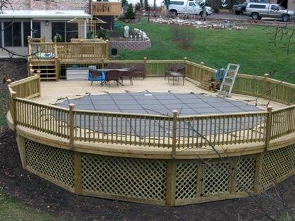 Amazing above ground pool ideas with decks 8