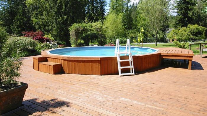 22 amazing and unique above ground pool ideas with decks for Above ground pool base ideas