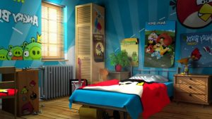 Angry gaming room decoration ideas
