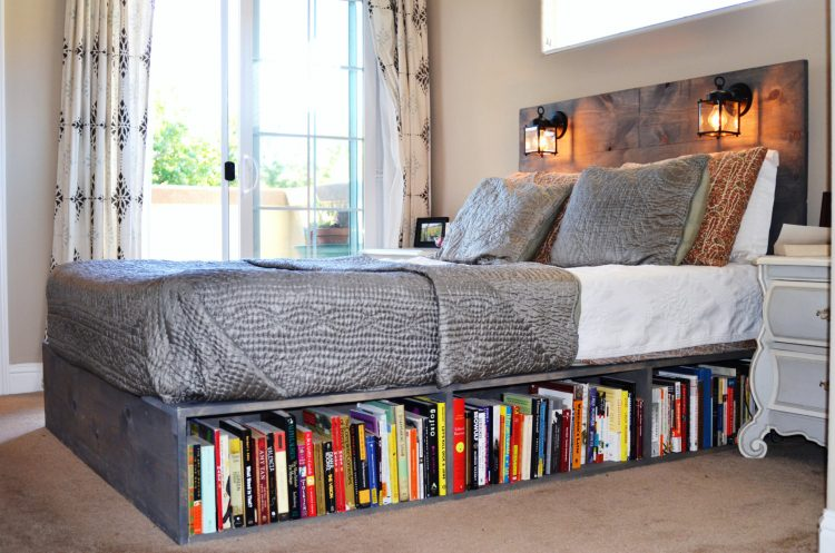 Types of bed frames; Bookcase