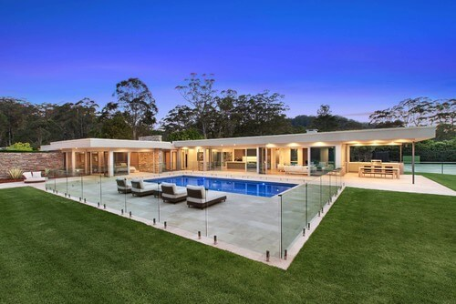 Clear glass fence