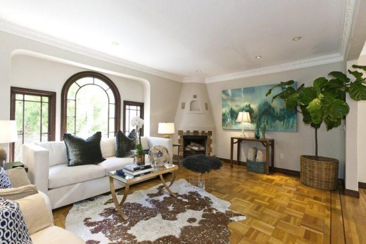 Dynamic living room flooring ideas