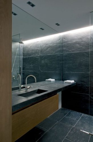 Full wall bathroom mirrors ideas