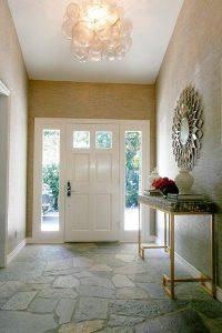 Green mosaic entry table ideas