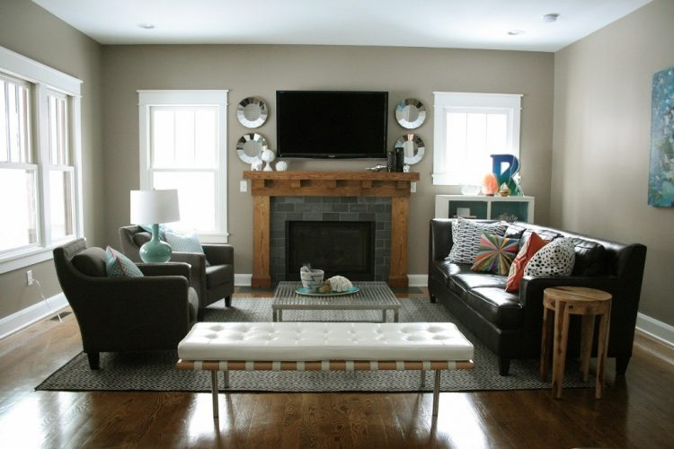 20 living room with fireplace that will warm you all winter for Walk in fireplace designs