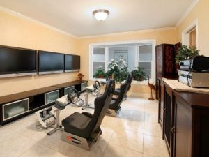 Modern video game room ideas with crown molding