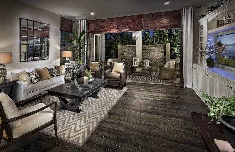 Natural look living room flooring ideas