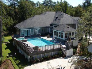 Rectangular above ground pool ideas with decks