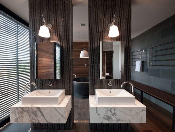 Two rectangular bathroom mirrors ideas