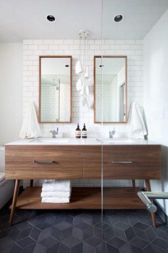 Two rectangular bathroom mirrors ideas 2