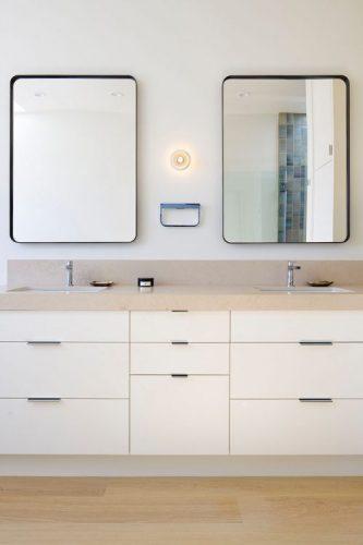 Two rectangular bathroom mirrors ideas 1