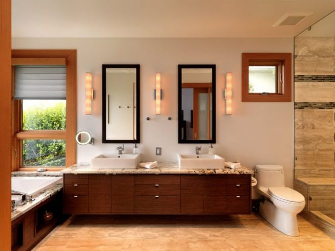 Two rectangular bathroom mirrors ideas 3
