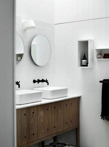Two round bathroom mirrors ideas 3