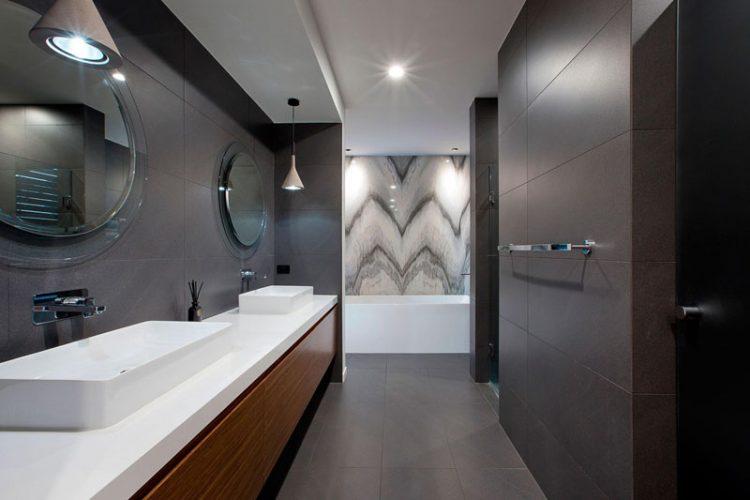 Two round bathroom mirrors ideas 2