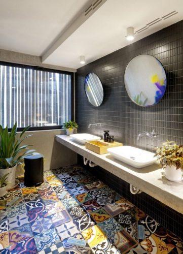 Two round bathroom mirrors ideas 1