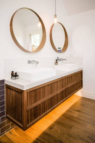 Two round bathroom mirrors ideas