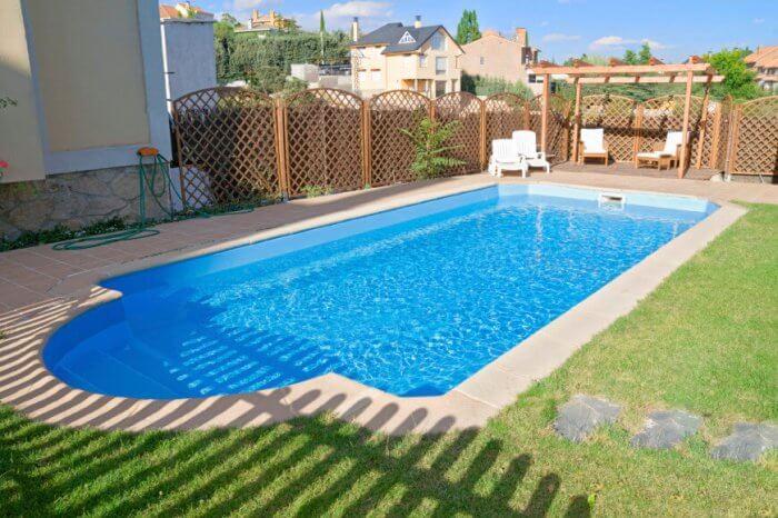 Simple wood lattice pool fence