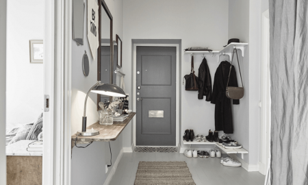 Muted small entryway ideas