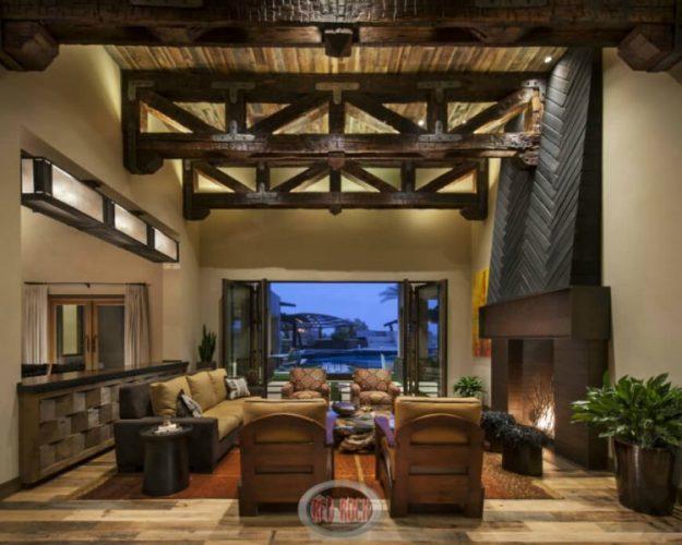 Warm living room flooring ideas
