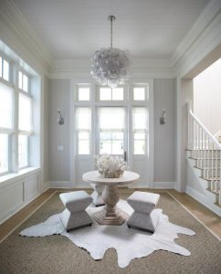 White and grey entry table ideas