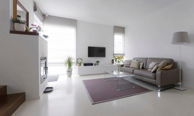 White marble living room floor ideas