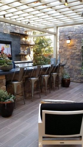 Courtyard outdoor bar ideas
