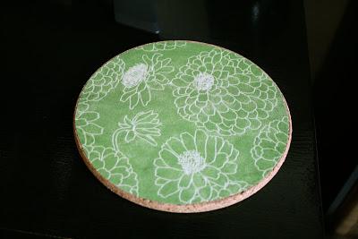 DIY cork mouse pad